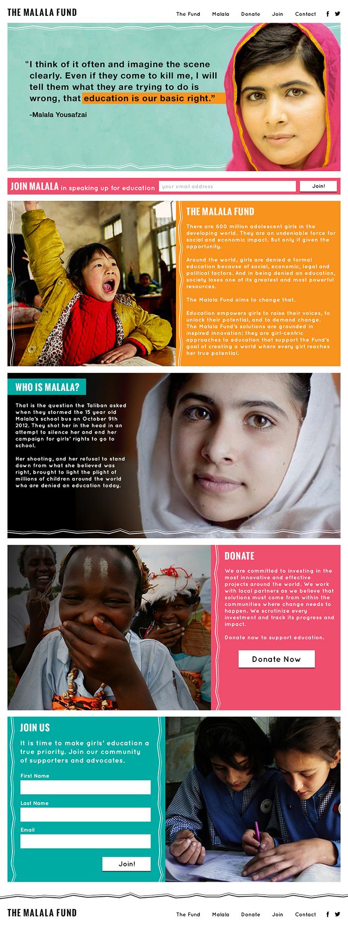 Malala Fund 1st Concept