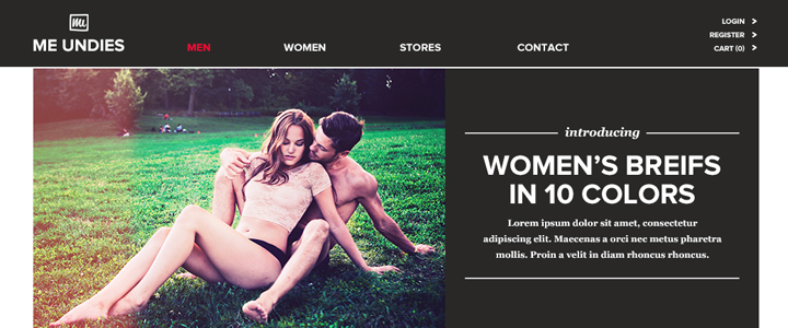 MeUndies Web Design