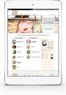 Organic Gelato and Coffee Online Shopping Experience Case Study